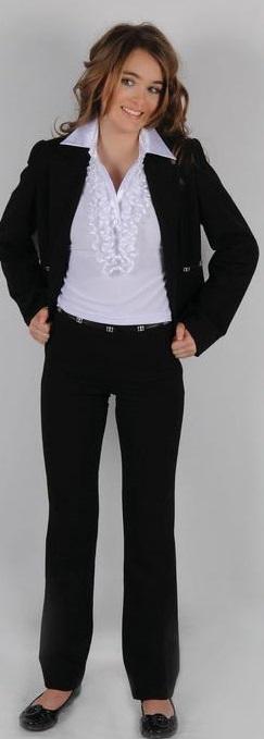 Школьная форма для девочек, брючный костюм сшить в ателье Ставрополь