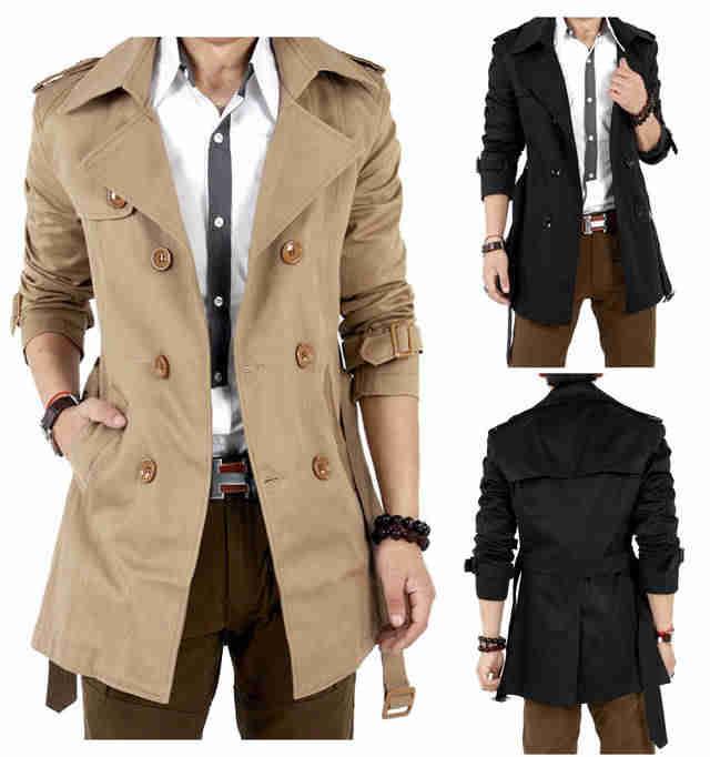 Пальто средней длины, Мужское пальто Тренч