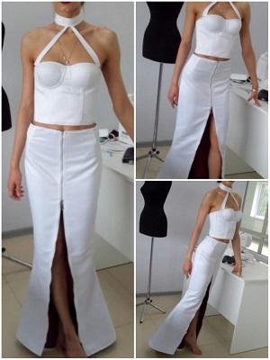 Пошив женской одежды, женский костюм юбка и топ